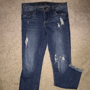 Frayed jeans 👖